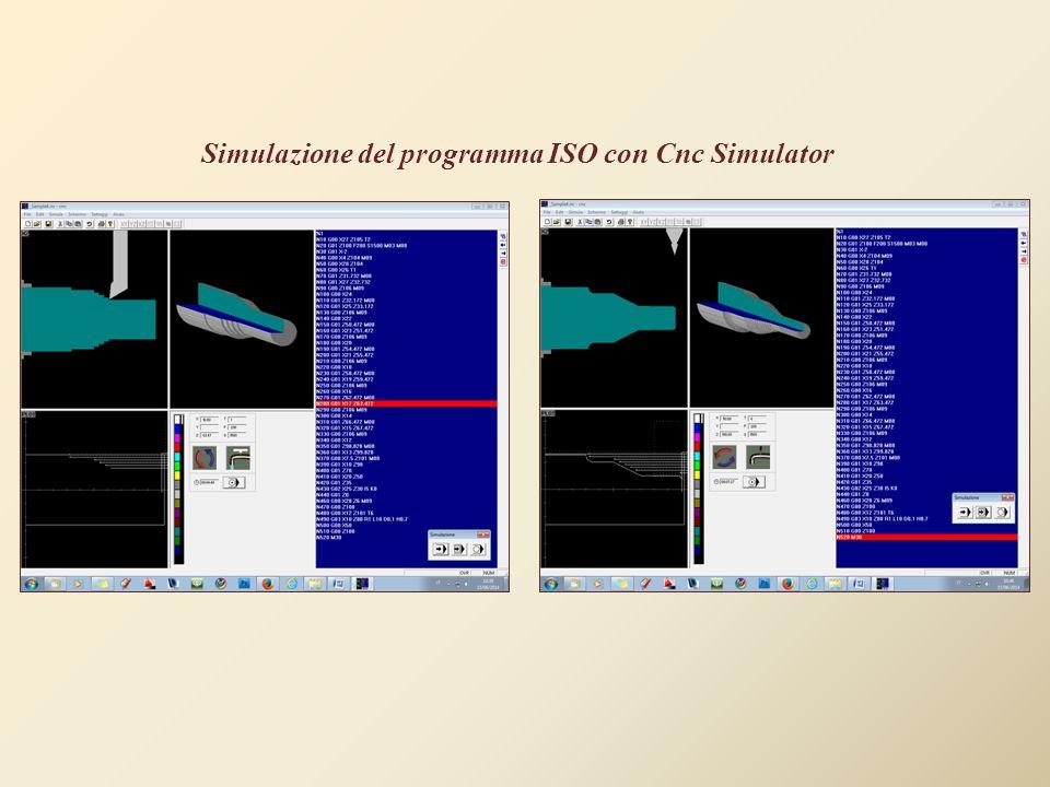 Simulazione del programma ISO con Cnc Simulator
