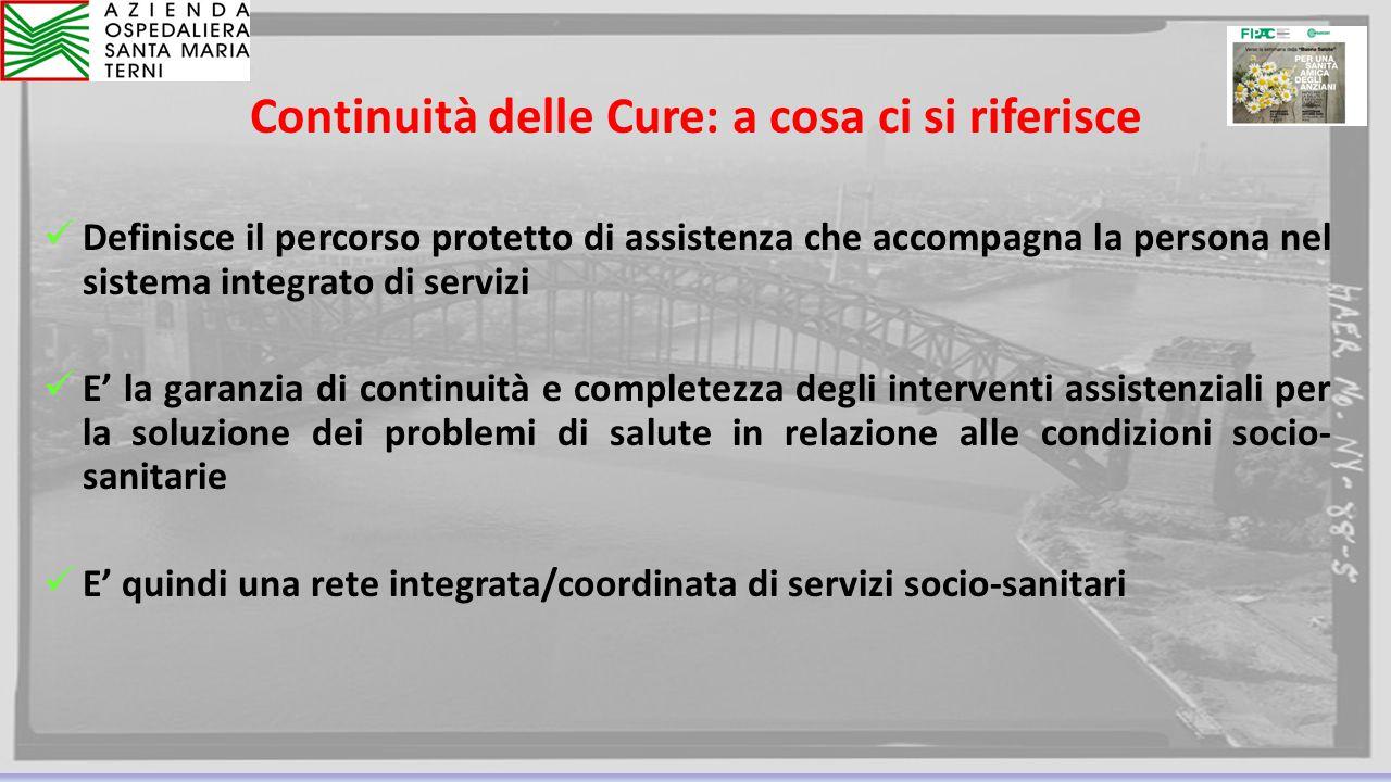 Continuità delle Cure: a cosa ci si riferisce
