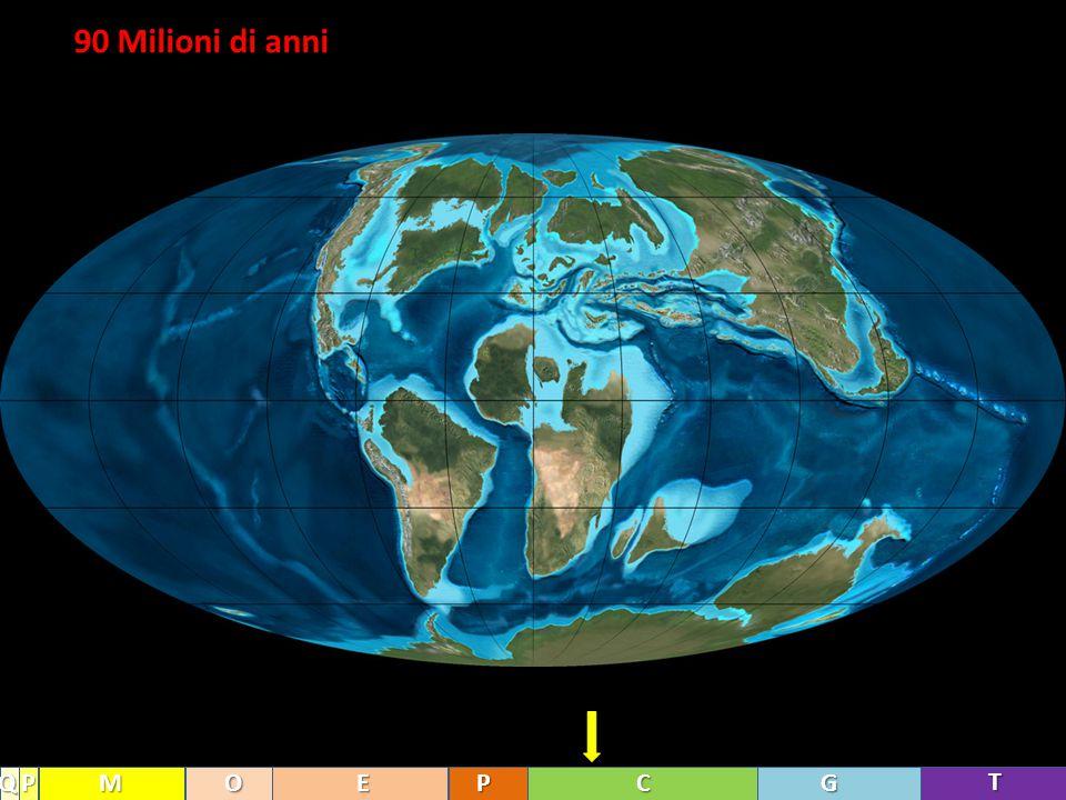 90 Milioni di anni Q P M O E P C G T
