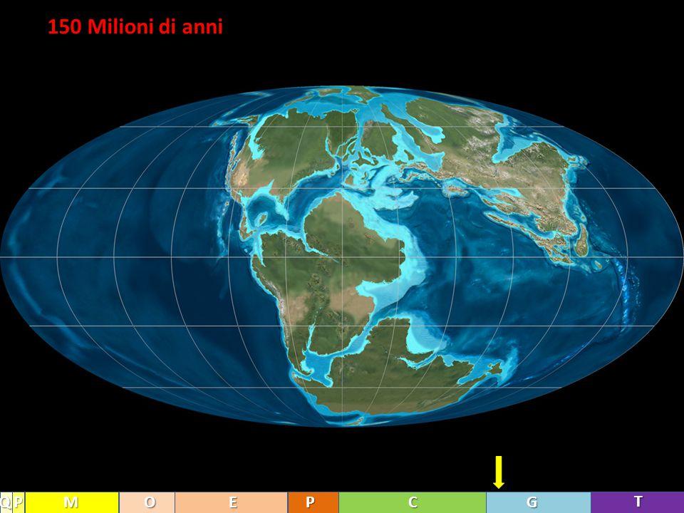 150 Milioni di anni Q P M O E P C G T