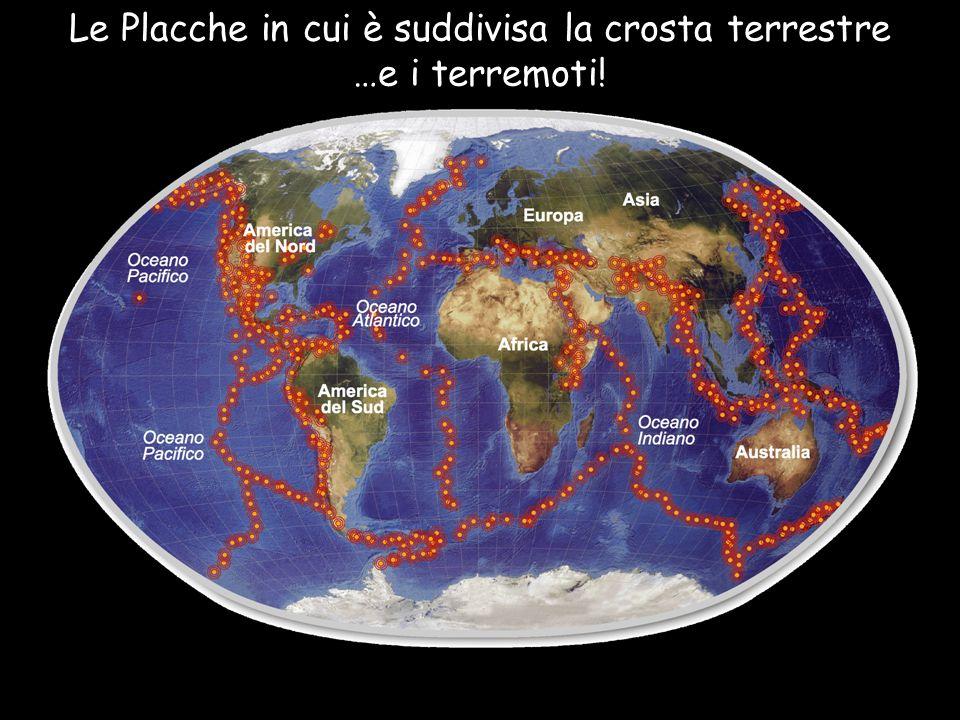 Le Placche in cui è suddivisa la crosta terrestre