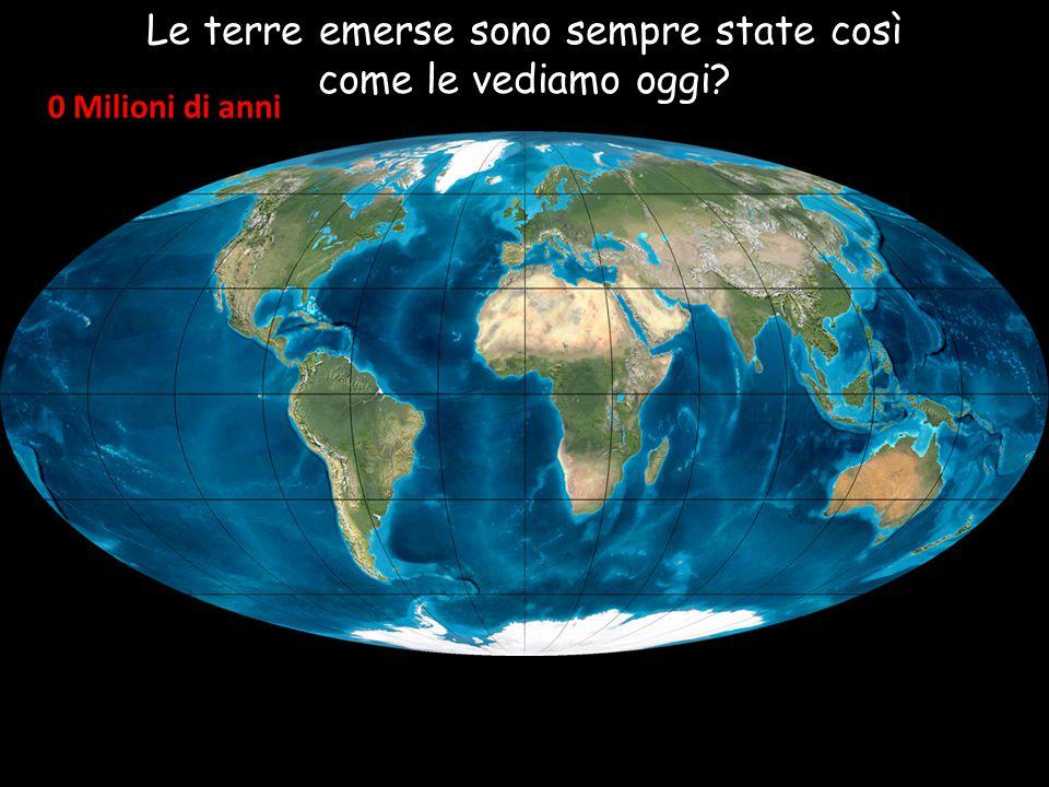 Le terre emerse sono sempre state così