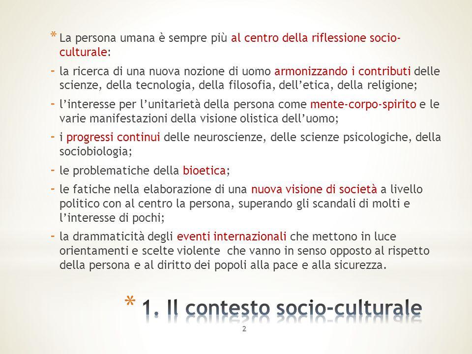 1. Il contesto socio-culturale