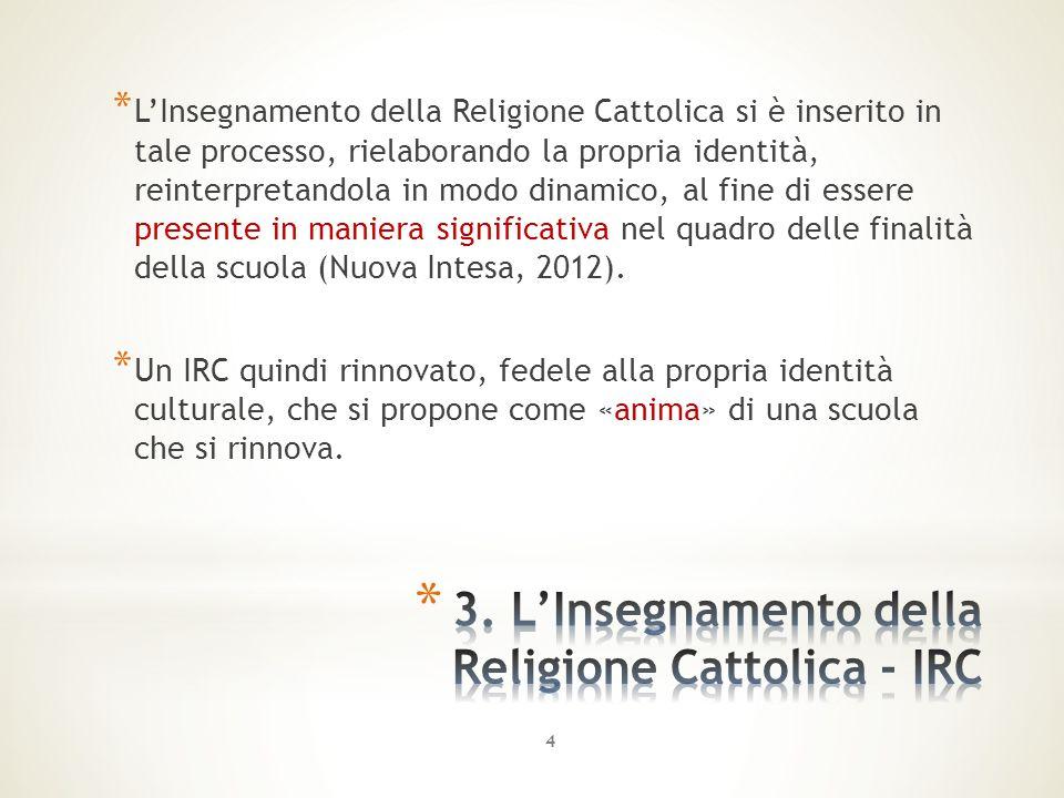 3. L'Insegnamento della Religione Cattolica - IRC