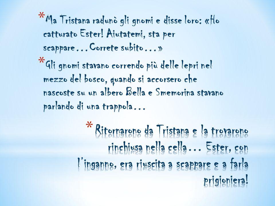 Ma Tristana radunò gli gnomi e disse loro: «Ho catturato Ester