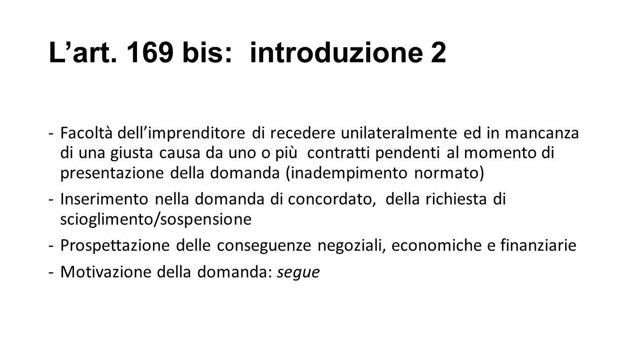 L'art. 169 bis: introduzione 2