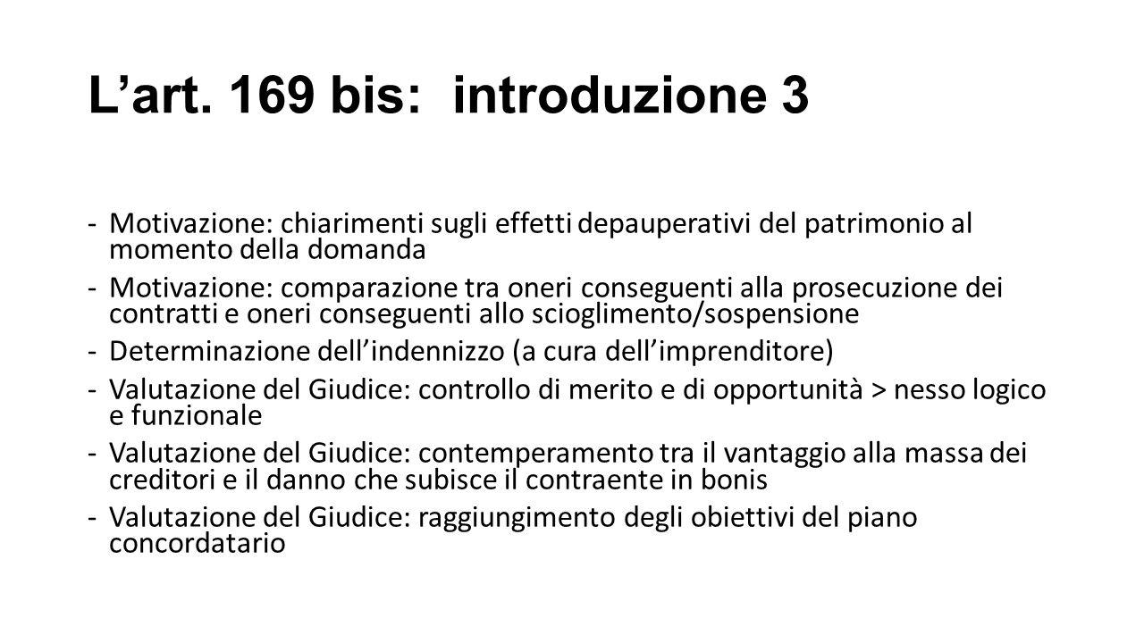 L'art. 169 bis: introduzione 3