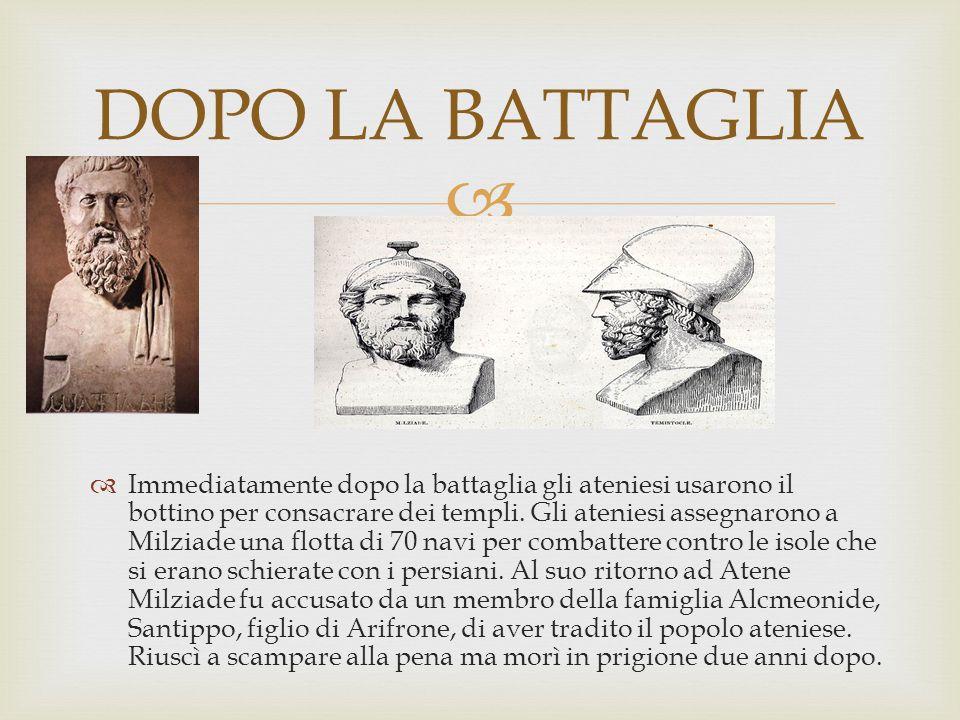 DOPO LA BATTAGLIA