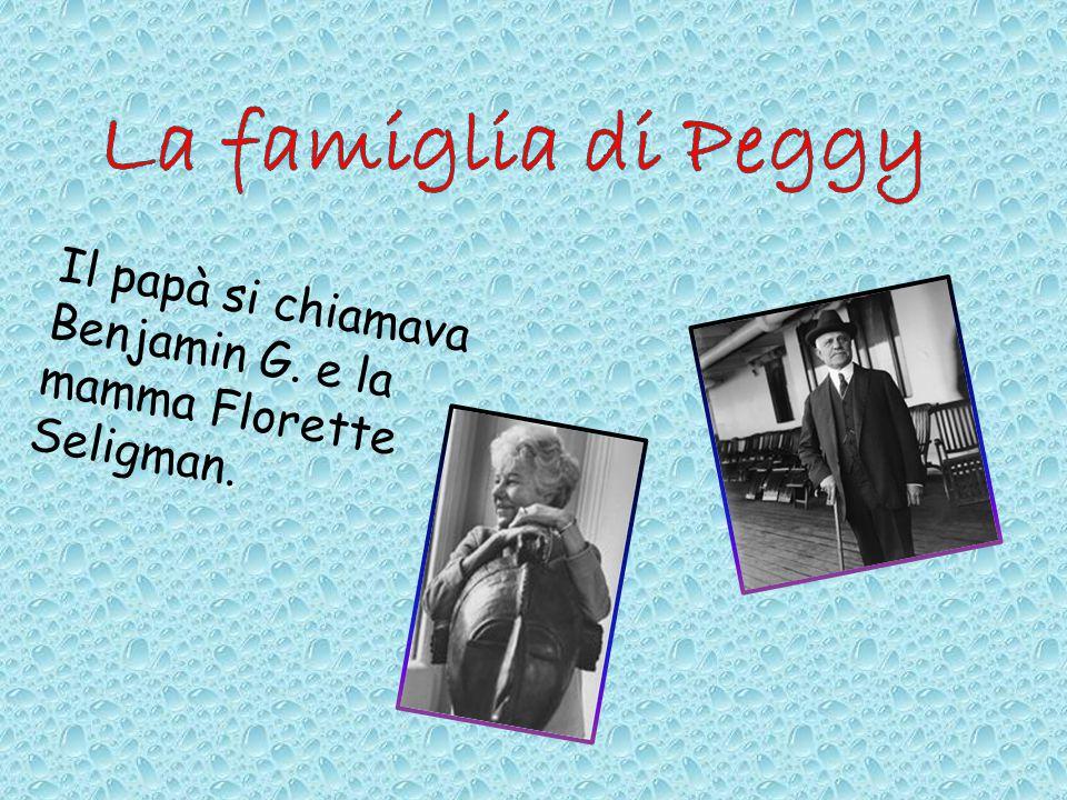Il papà si chiamava Benjamin G. e la mamma Florette Seligman.