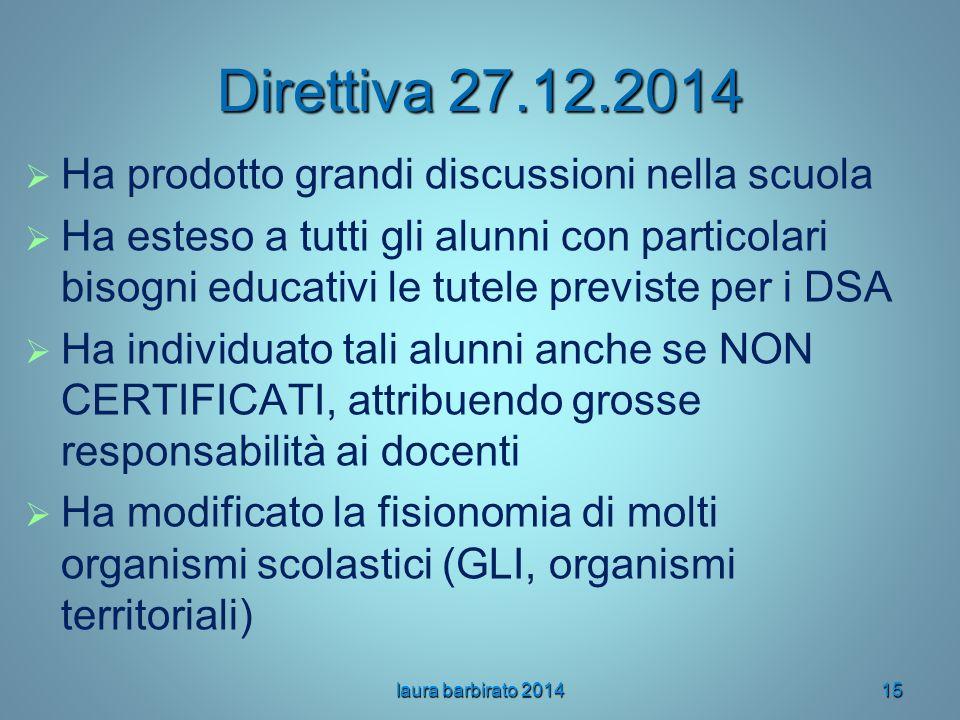 Direttiva 27.12.2014 Ha prodotto grandi discussioni nella scuola