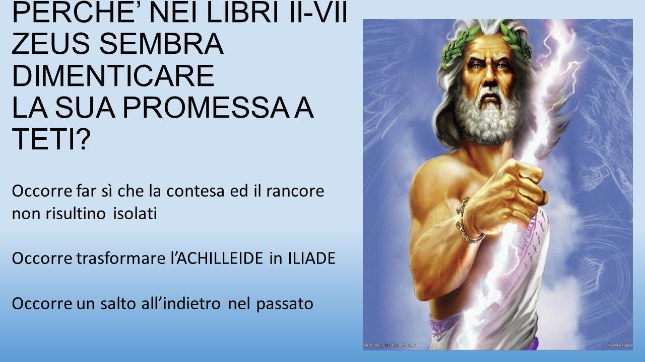 PERCHE' NEI LIBRI II-VII ZEUS SEMBRA DIMENTICARE LA SUA PROMESSA A TETI