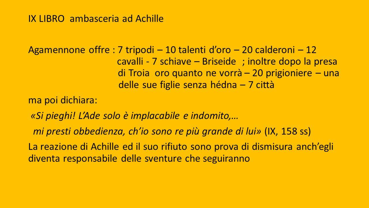 IX LIBRO ambasceria ad Achille