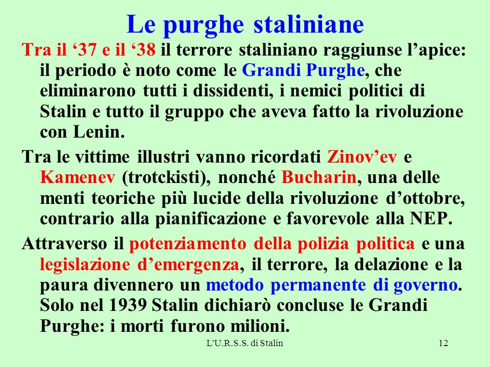 Le purghe staliniane