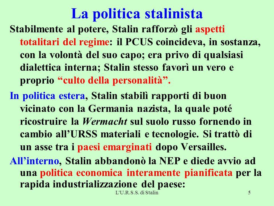 La politica stalinista