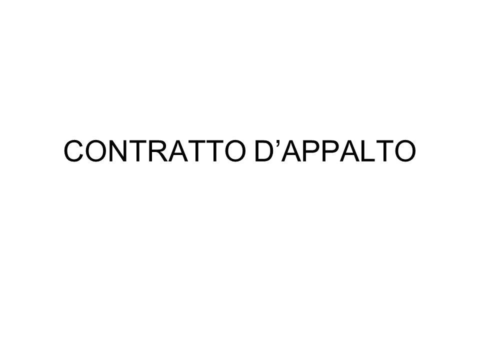 CONTRATTO D'APPALTO