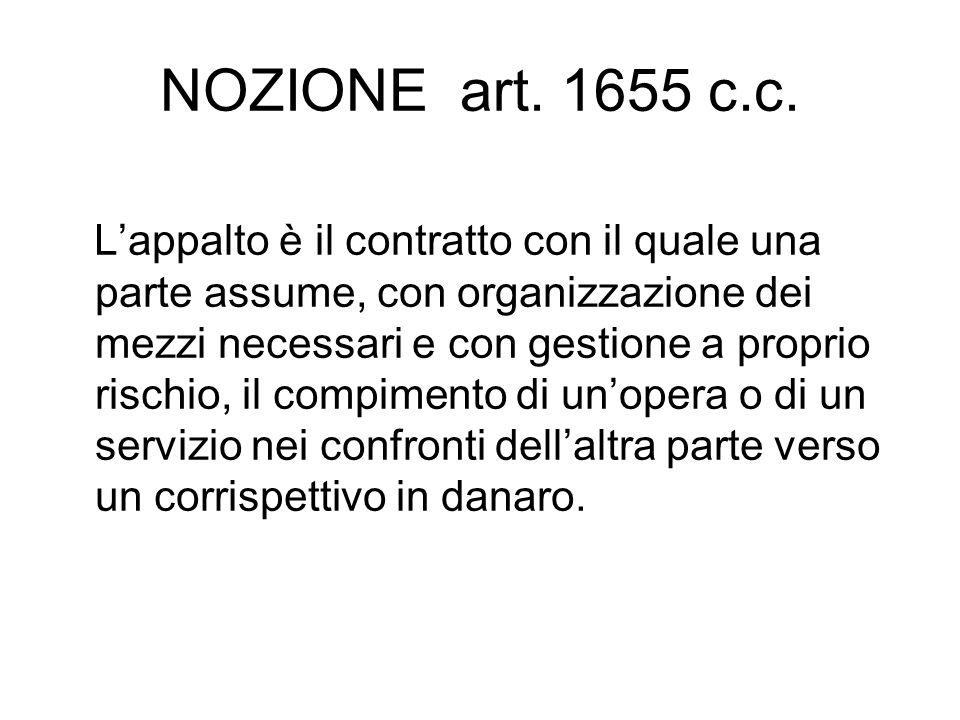 NOZIONE art. 1655 c.c.