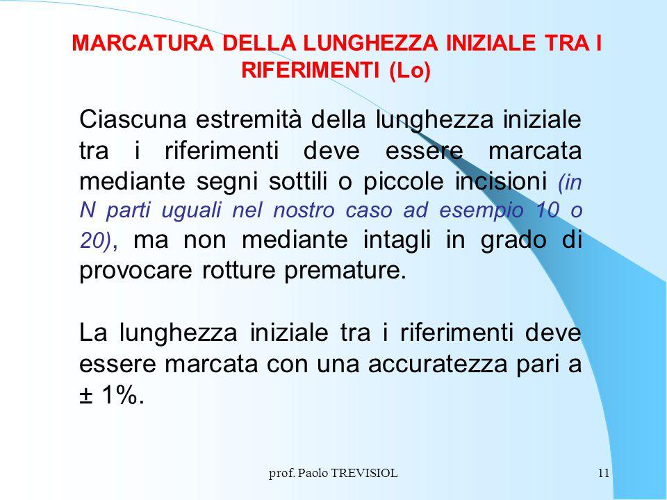 MARCATURA DELLA LUNGHEZZA INIZIALE TRA I RIFERIMENTI (Lo)
