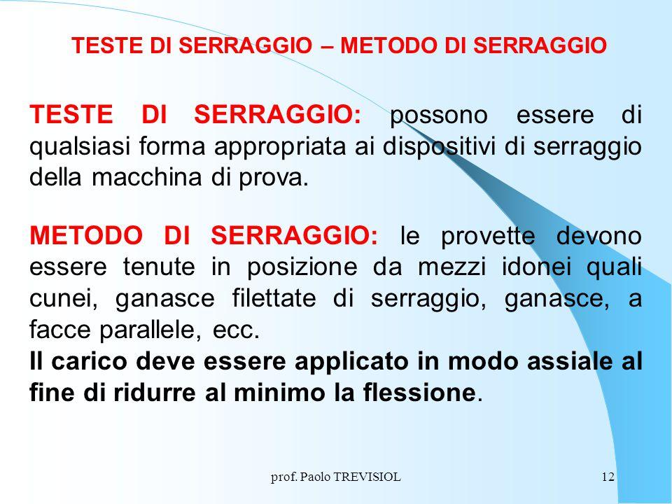 TESTE DI SERRAGGIO – METODO DI SERRAGGIO