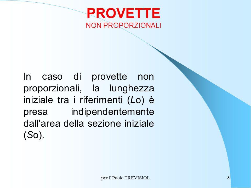 PROVETTE NON PROPORZIONALI