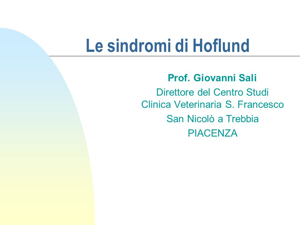 Direttore del Centro Studi Clinica Veterinaria S. Francesco