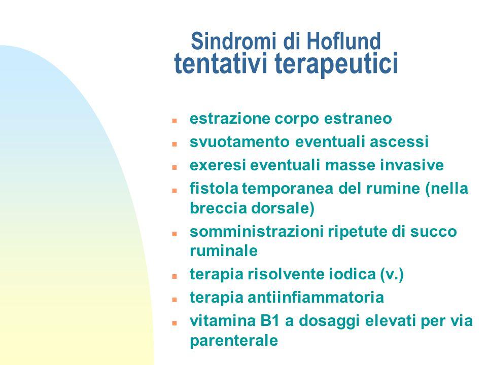 Sindromi di Hoflund tentativi terapeutici