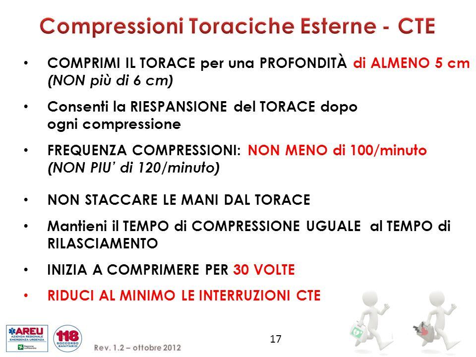 Compressioni Toraciche Esterne - CTE