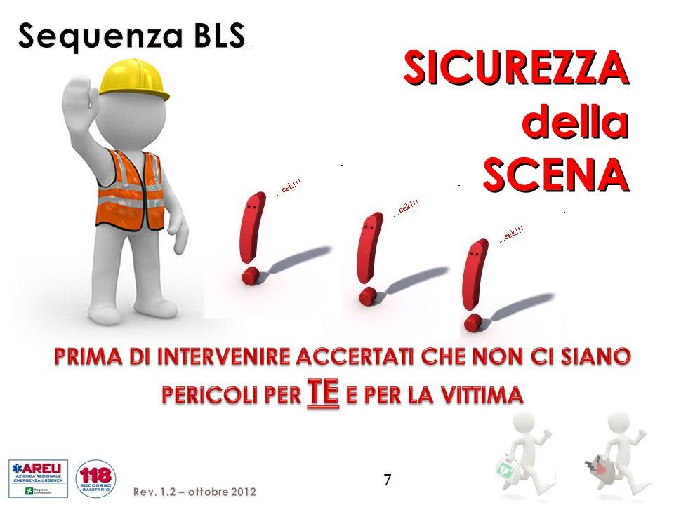 SICUREZZA della SCENA Sequenza BLS