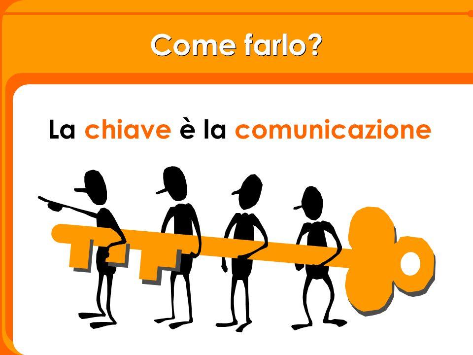 La chiave è la comunicazione