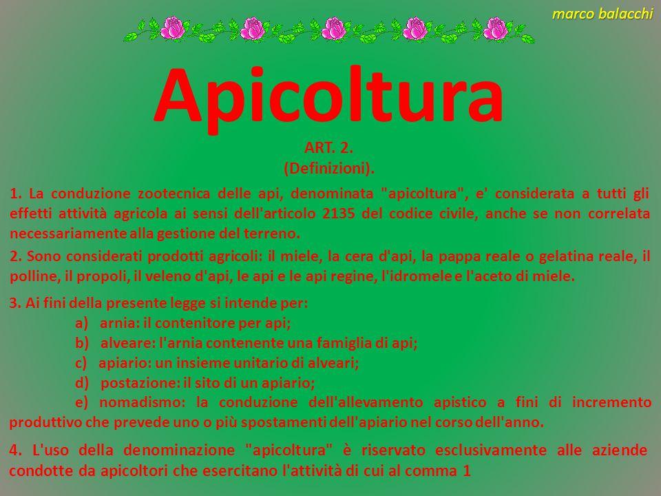Apicoltura ART. 2. (Definizioni).