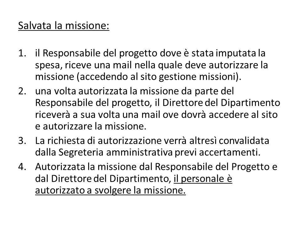 Salvata la missione: