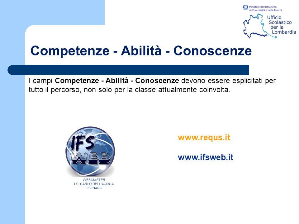Competenze - Abilità - Conoscenze