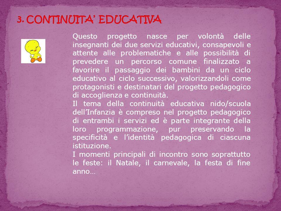 3. CONTINUITA' EDUCATIVA