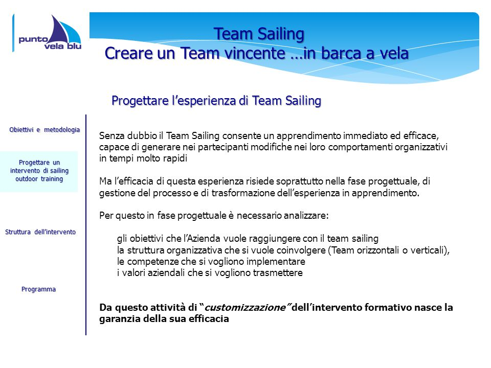 Creare un Team vincente …in barca a vela