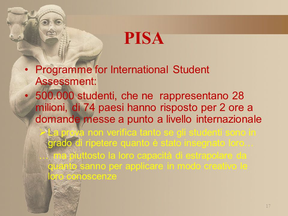 PISA Programme for International Student Assessment: