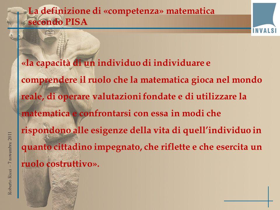 La definizione di «competenza» matematica secondo PISA