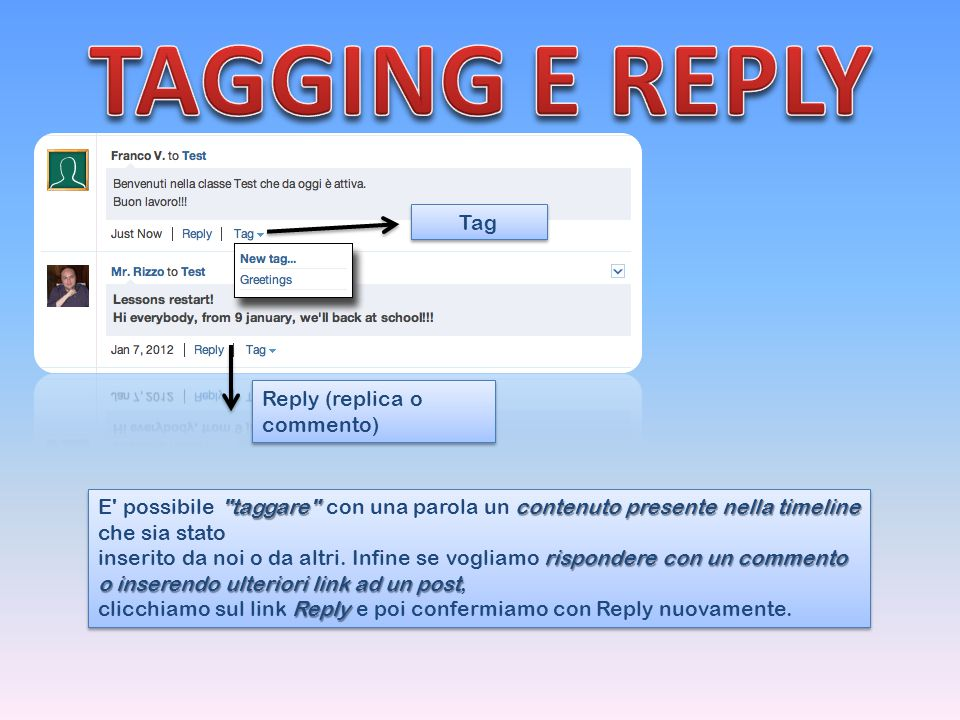 TAGGING E REPLY Tag Reply (replica o commento)