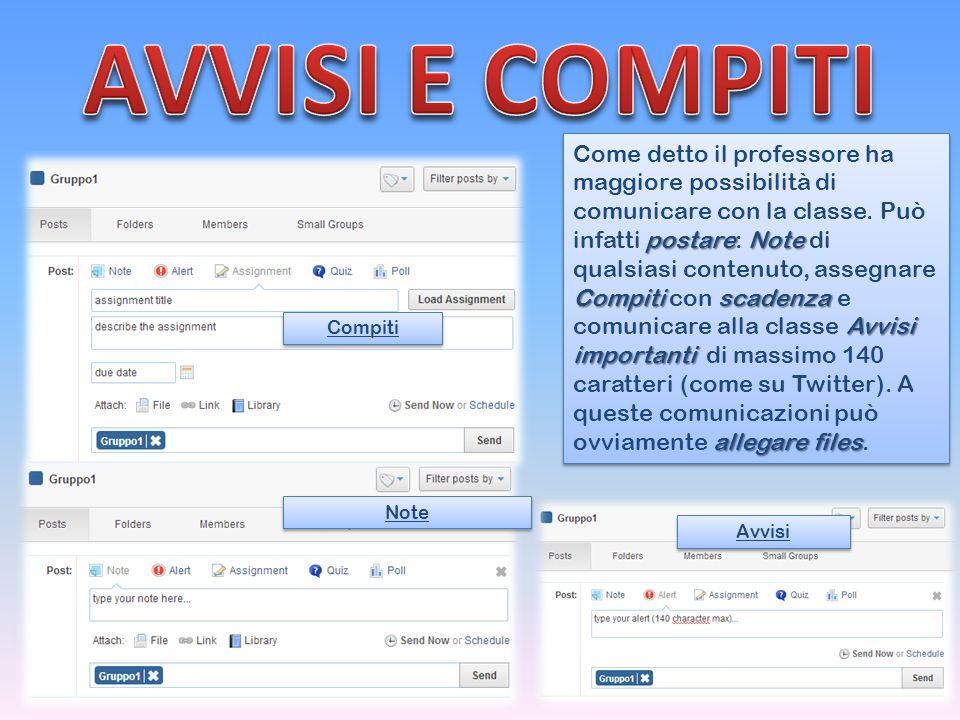 AVVISI E COMPITI
