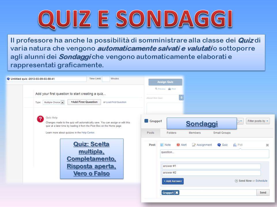 Quiz: Scelta multipla, Completamento, Risposta aperta, Vero o Falso