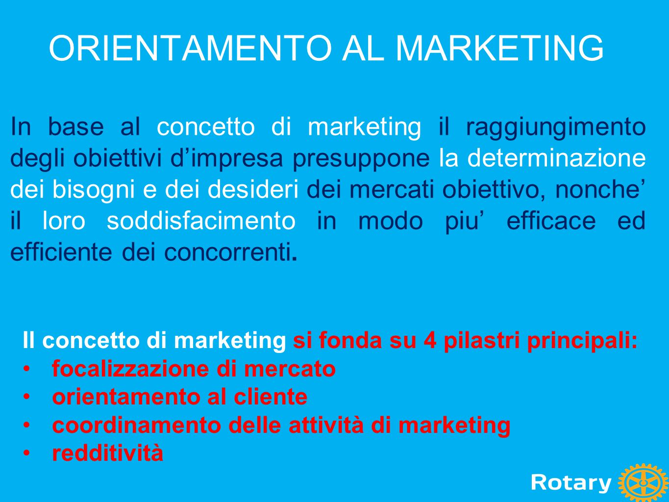 ORIENTAMENTO AL MARKETING