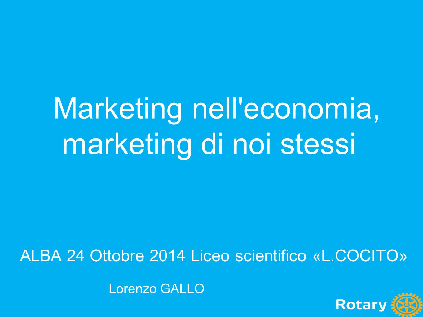 Marketing nell economia, marketing di noi stessi