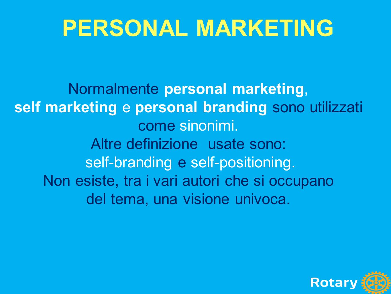 PERSONAL MARKETING Normalmente personal marketing,