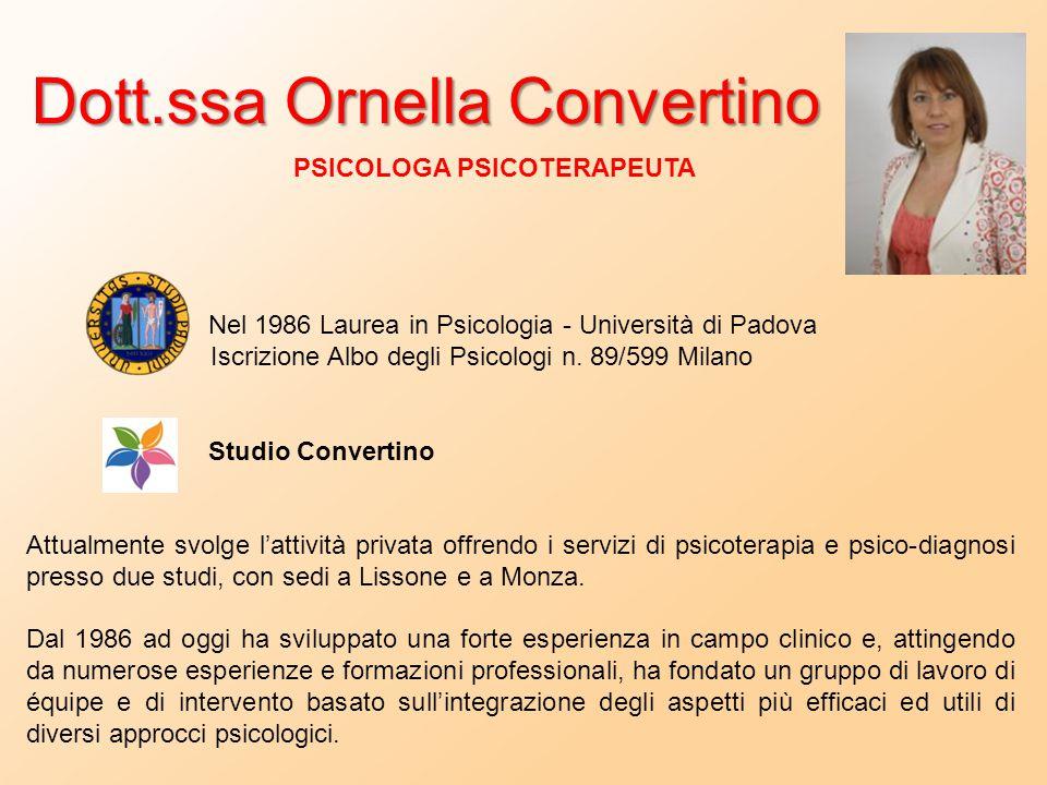 Dott.ssa Ornella Convertino