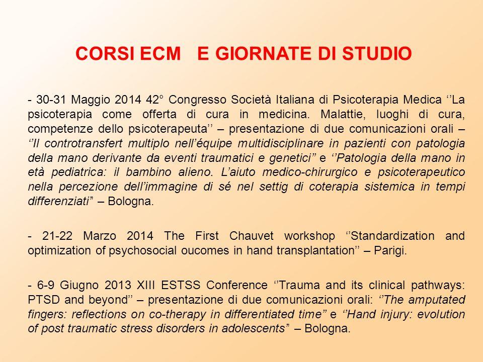 CORSI ECM E GIORNATE DI STUDIO