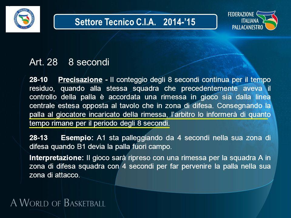 Settore Tecnico C.I.A. 2014-'15 Art. 28 8 secondi
