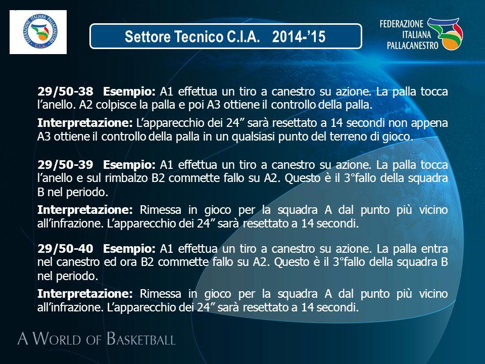 Settore Tecnico C.I.A. 2014-'15
