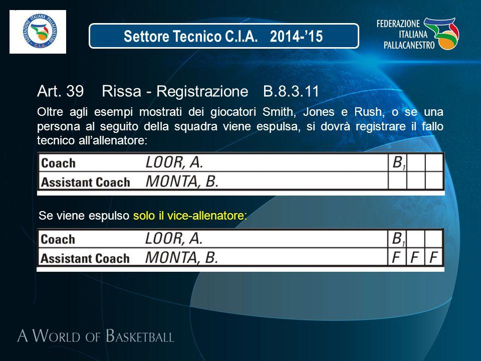 Art. 39 Rissa - Registrazione B.8.3.11