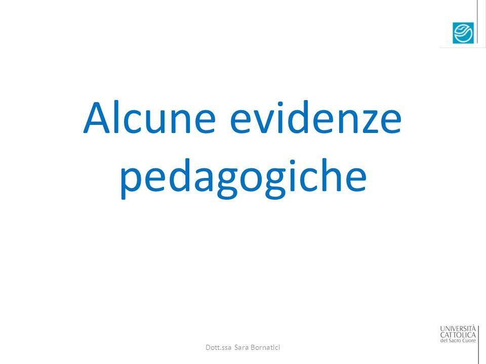 Alcune evidenze pedagogiche