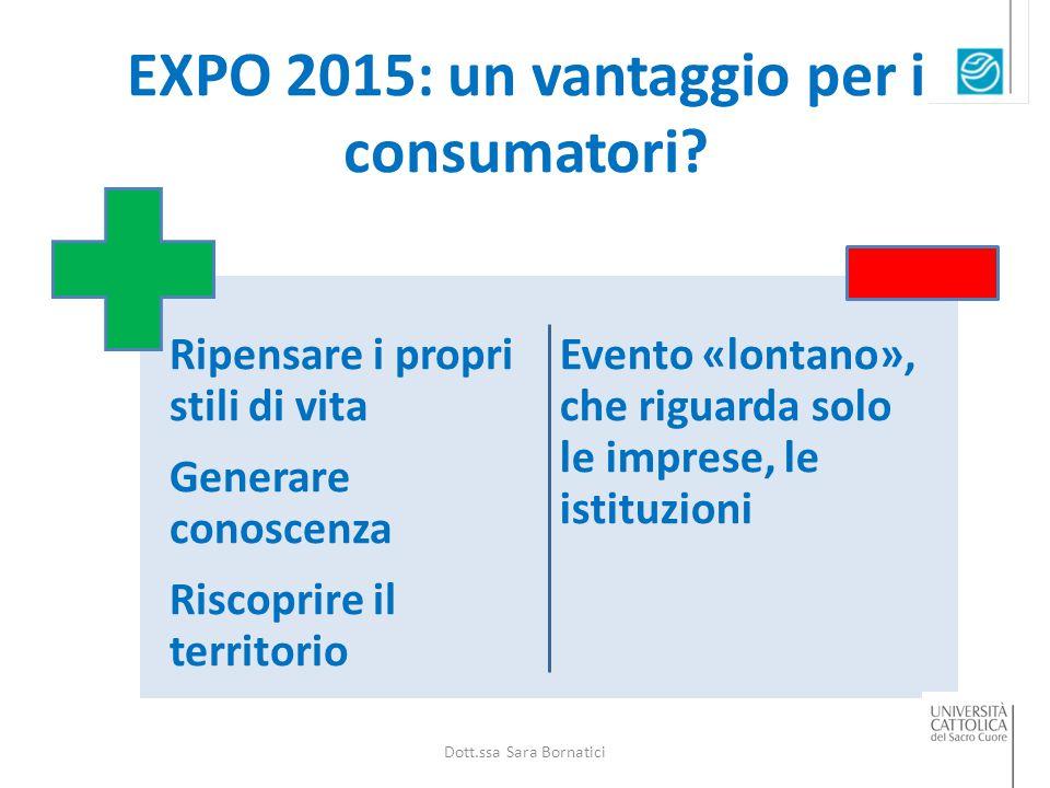 EXPO 2015: un vantaggio per i consumatori