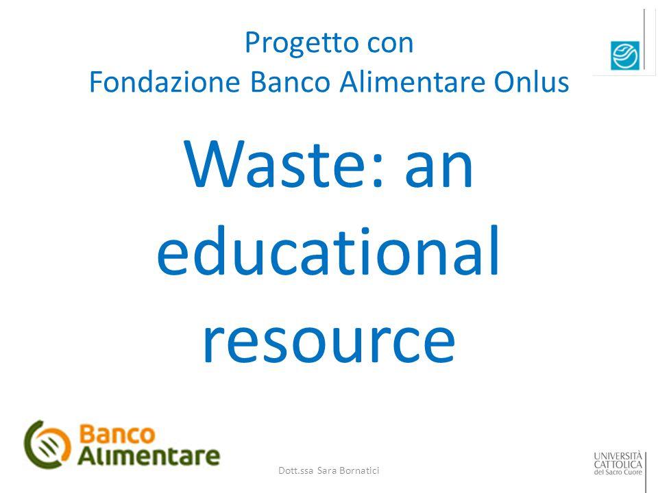 Progetto con Fondazione Banco Alimentare Onlus