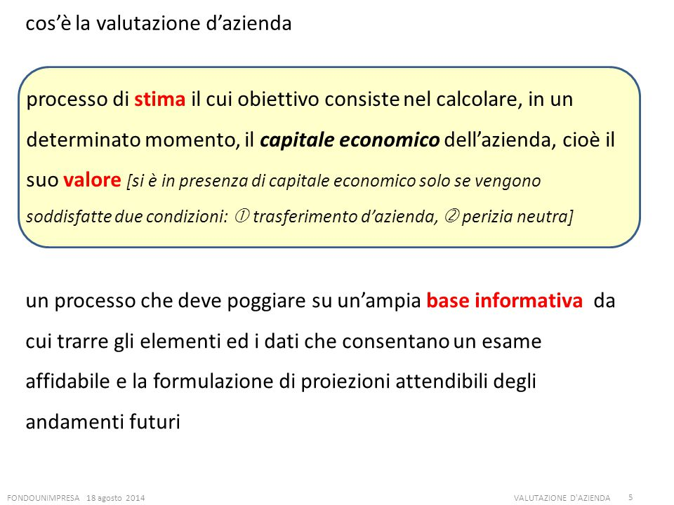 cos'è la valutazione d'azienda